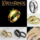 Fashion Stainless Steel Ring The Lord of the Rings Gold Plated 6MM