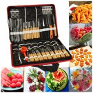 80Pcs Portable Vegetable Fruit Food Chef Burin Carving Chiseling Tool Kit With Bag