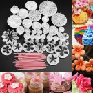 47pcs Cake Decoration Mold Tools Set Sugarcraft Icing Cutters Plungers Useful