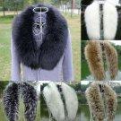 Winter Faux Fox Fur Collar Shawl Collar Women Wrap Stole Scarves Scarf Multicolor