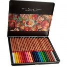 24 Colored Drawing Oil Base Non-toxic Pencils Tin Set