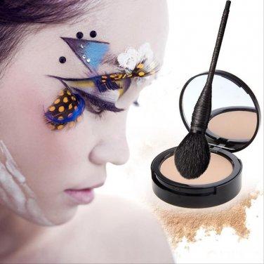 Pro Cosmetic Goat Hair Makeup Rattan Brush Blush Face Powder Foundation