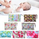 Baby Portable Waterproof Wet Dry Bag Cloth Diaper Reusable Nappy Zip Pocket