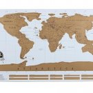 World Scratch Wall Map Poster In Tube