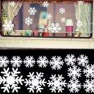 White Snowflake Window Wall Sticker Decoration Christmas Xmas Ornament