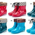 Fashion Non-slip Waterproof PVC Rubber Ankle Short Rian Boots