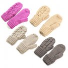 Kniting Twist Weave Cotton Inner Warm Pure Color Gloves Winter Accessories