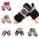 Lady Winter Pure Manual Weaving Warm Snow Wool Gloves