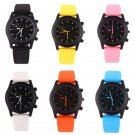 Cool Men's Luxury Black Dial Sports Rubber Strap Band Quartz Wristwatch