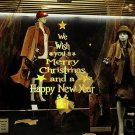 Wall Stickers DIY Christmas Tree Window Decor Removable Happy New Year