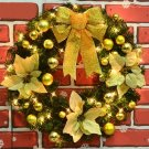 Artificial Flowers Christmas Wreath Merry Christmas Home Wall Door Decoration