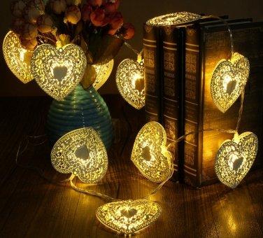 10 LED Christmas Love Heart String Light Home Shop