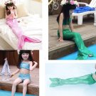 Children Girls Mermaid Swimsuit Princess Costume Bikini Set