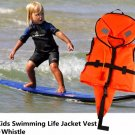 Kids Swimming Life Jacket Vest Whistle Child Youth Boy Girl Boating