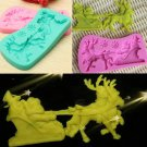 3D Christmas Santa Claus Reindeer Silicone Cake Mold Fondant Cake Chocolate Mould