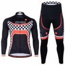 Men Sports Cycling Long Sleeve Jersey Suit Bicycle Bike Clothes Suit Sportswear Spring And Autumn