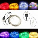 10M 100 LED USB Copper Wire Flexible String Fairy Light Xmas Wedding Party Decor