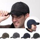 Male Earflap Earmuffs Water Proof Baseball Cap Adjustable Blank Golf Sport Outdoor Hat