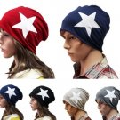 Autumn Winter Cotton Blend Star Beanie Ski Baggy Knit Hat Cap