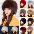 Fluffy Faux Fox Fur Russian Cossack Style Winter Hat Warm Cap