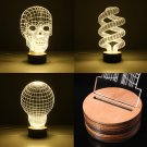 3D Visual LED Table Lamp Energy Saving Wooden Night Lamp For Holiday