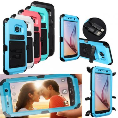 CP PC+Silicone Dual Hybrid Shockproof Case Cover For Samsung Galaxy S6