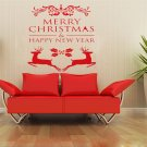Merry Christmas Elk Wall Window Sticker Removable Home Decoration
