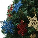 6pcs Star Snowflake Christmas Hanging Decoration Tree