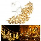 1M 10LEDs Battery Operated Iron Christmas Tree LED Fairy String Light Party Wedding