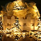 4M 40LEDs Battery Operated Iron Christmas Tree LED Fairy String Light Party Wedding