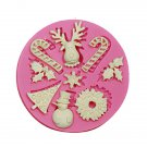 Christmas Tree Deer Silicone Fondant Cake Mold Cookie Chocolate Mould