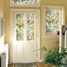 Magnolia Static Window PVC Films Glass Sticker Non-glue Frosted Window Decals