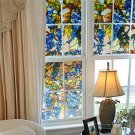 Grapevine Static Window PVC Films Glass Sticker Non-glue Fork Art Glass Window Decals