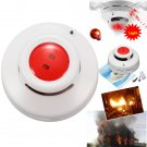 Wireless Smoke Fire Coal Gas Sensor Detector Alarm Tester Home Security System