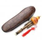 Natural Bamboo Gourd Cucurbit Flute C Tone Chinese Minority Instrument
