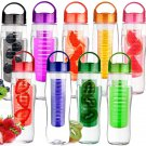 700ML Sports Plastic Fruit Infuser Water Bottle Cup BPA Free Filter