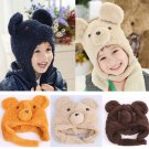Fashion Unisex Newborn Baby Boy Girl Beanie Hat Soft Toddler Bear Cartoon Cap