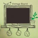 Chalkboard Decal Blackboard Removable Waterproof Wall Sticker Kitchen 62x67cm Message Board