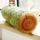 3D Vivid Stump Log Wood Shape Throw Pillow Tree Bark Soft Cushion Sofa Office Car Decor
