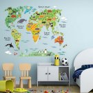 Colorful World Map DIY Removable Wall sticker Decal