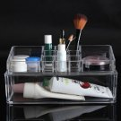 Two Layer Acrylic Clear Make Up Organizer Cosmetic Display Nail Polish Storage Holder Case