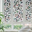 Window Films Cane Leaves 3 Meters PVC Films Glass Sticker Non-glue Fork Art Glass Poster