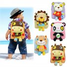 Lovely 3D Animal Backpack Kids Cartoon Plush Shoulder Bag Snap Package