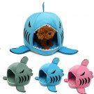 S Size Removable Shark Mouth Pet House Bed Washable