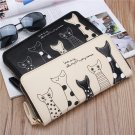 Long Wallet Girls Cute Animal Long Zipper Purse Card Holder