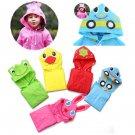 Cartoon Lovely Raincoats Children Rainwear for 90-130cm