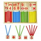 Wooden Numbers Mathematics Early Learning Counting Educational Toy