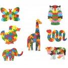 Wooden Animal Shape Puzzle Blocks 26 Alphabet Number Educational Toy