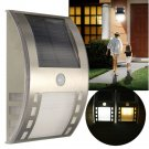 Waterproof LED Solar Power PIR Motion Sensor Outdoor Garden Wall Light