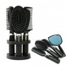 5Pcs Plastic Hair Comb Massage Brush Mirror Set